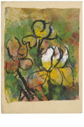 Texas:Early Texas Art - Impressionists, JOSEPHINE MAHAFFEY (American, 1903-1982). Untitled, floral.Watercolor and acrylic on tissue paper, mounted on mat board. 6-...