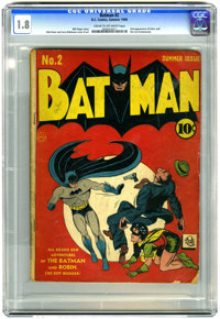 Batman #2 (DC, 1940) CGC GD- 1.8 Cream to off-white pages