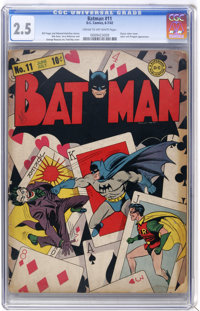 Batman #11 (DC, 1942) CGC GD+ 2.5 Cream to off-white pages