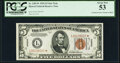 Small Size:World War II Emergency Notes, Fr. 2301* $5 1934 Hawaii Federal Reserve Note. PCGS About New 53.. ...