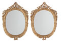 Furniture, A Pair of French Louis XV-Style Carved Gilt Wood Oval Mirror Frames. 50 x 35 x 4 inches (127 x 88.9 x 10.2 cm) (each). ... (Total: 2 Items)