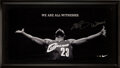 "Basketball Collectibles:Others, Circa 2005 LeBron James Signed Limited Edition (8/23) Nike/UDA ""Witness"" Oversized Print with Inscription...."