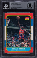 Autographs:Sports Cards, Signed 1986 Fleer Michael Jordan #57 BAS Auto Authentic. ...