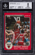 Basketball Cards:Singles (1980-Now), 1984-85 Star Co. Michael Jordan #101 BGS NM-MT 8. ...