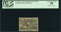 Milton 2E25FR.2 25¢ Second Issue Experimental PCGS Choice About New 58