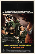 """Movie Posters:War, Where Eagles Dare (MGM, 1968). Folded, Very Fine+. One Sheet (27"""" X 41"""") Style B. War.. ..."""