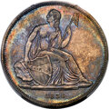 Gobrecht Dollars, 1836 $1 Judd-60 Original, Medal Alignment, Pollock-65, R.1 -- Cleaned -- PCGS Genuine. Proof, AU Details....