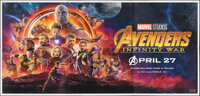 """Avengers: Infinity War (Walt Disney Pictures, 2018). Rolled, Very Fine+. Indian Six Sheet (53.5"""" X 111""""). Acti..."""