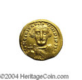 Ancients:Byzantine, Ancients: Constans II. A.D. 641-668. AV solidus (20 mm, 4.29 g).Constantinople, indictional year 7 (A.D. 648/9). Crowned facingbust,...