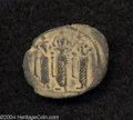 Ancients:Byzantine, Ancients: Arab-Byzantine. Imitating Constans II. Ca. 7th-8th centuries A.D. AE fals (22 mm, 3.06 g). Tabariya. The Byzantine emperor C...