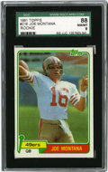 Football Cards:Singles (1970-Now), 1981 Topps Joe Montana #216 SGC 88 NM/MT 8. An essential rookiecard from one of the game's greatest field generals. Sharp...