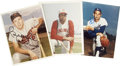 """Football Collectibles:Others, Baseball Hall of Fame Single Signed Photographs Lot of 5. This lot consists of five 8x10"""" color photos of and signed by som..."""