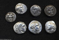 Ancients:Greek, Ancients: Lot of seven miscellaneous Greek silver coins. Includes:Macedonian Kingdom. Alexander III. Drachm (2 coins) // Ionia,Milet... (Total: 7 coins Item)