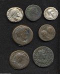 Ancients:Roman, Ancients: Lot of seven miscellaneous Roman Provincial coins. Gaul,Nemausus. Augustus and Agrippa. AE dupondius // Mysia, Perga.Galli... (Total: 7 coins Item)
