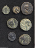 Ancients:Roman, Ancients: Lot of seven bronze coins of the Holy Land. Includes:Syria, Decapolis. Pella. Lucilla. Spijkerman 5. Fine // ArabiaPetraea... (Total: 7 coins Item)