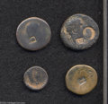 Ancients:Roman, Ancients: Lot of four miscellaneous coins with countermarks of theTenth Legion. Includes: AE 24. LEG X F within rectangular incusean... (Total: 4 coins Item)
