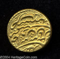 Afghanistan: , Afghanistan: Ahmad Shah gold Ashrafi ND Lahore Mint, KM639, Fr-2, fine style legends on both sides, struck 1755-1772AD. Nice AU, sharp de...