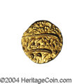 Afghanistan: , Afghanistan: Taimur Shah gold Mohur AH1188/3 (1774) Kabul, KM435, Friedberg 5, choice UNC, fully lustrous and nicely centered with a full...