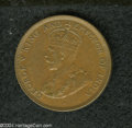 British Honduras: , British Honduras: George V 1 Cent 1913, KM15, XF.. From the Professor Wayne Newton Palmer Collection....