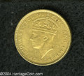 British Honduras: , British Honduras: George VI 5 Cents 1942, KM22, AU with prooflike surfaces.. From the Professor Wayne Newton Palmer Collection....