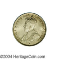British Honduras: , British Honduras: George V 25 Cents 1919, KM17, lustrous Unc. with a hint of golden toning.. From the Professor Wayne Newton Palmer Collecti...