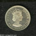 British Honduras: , British Honduras: Elizabeth II 25 Cents 1955, KM29, Choice Proof with full cameo appearance.. From the Professor Wayne Newton Palmer Collect...