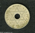 British West Africa: , British West Africa: George VI Penny 1946SA, KM19, FT-194, Finewith slightly porous surfaces. By far, the scarcest issue of thistype.. From t...
