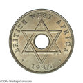 British West Africa: , British West Africa: Edward VIII Penny 1945H, mule with an EdwardVIII obverse and the normal BWA reverse, KM25, FT-338, Choice AU.Extremely Rar...