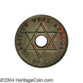 British West Africa: , British West Africa: George VI Penny 1937H, KM-PnA10 (type ofKM19), FT-337, struck on a bronze East Africa planchet instead ofthe usual copper-...
