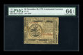 Colonial Notes:Continental Congress Issues, Continental Currency November 29, 1775 $5 PMG Choice Uncirculated64 EPQ....