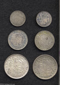 "British West Indies: , British West Indies: Assortment of George IV British Colonial""Anchor Dollar"" 1822 fractionals, including (2) sixteenths, Br-860,KM1, Extremely ... (Total: 6 coins Item)"