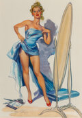 Pin-Up and Glamour Art, Joyce Ballantyne (American, 1918-2006). Of Course You've Got to Use Your Imagination preliminary. Gouache on board . 19-...