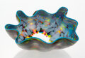 Glass, Dale Chihuly (American, b. 1941). Macchia with Teal Lip Wrap, circa 1995. Glass. 5-1/4 x 10 x 9 inches (13.3 x 25.4 x 22...