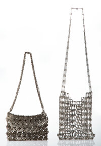 Paco Rabanne (Spanish, b. 1934) and Donna Esa (Italian, 1932-2013) Two Handbags, circa 1960 Chain ma