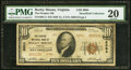 National Bank Notes:Virginia, Rocky Mount, VA - $10 1929 Ty. 2 The Peoples National Bank Ch. # 8984 PMG Very Fine 20.. ...