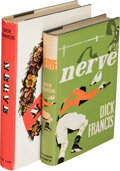 Books:Mystery & Detective Fiction, Dick Francis. Two Copies of Nerve. London and New York: [1964]. First and first American editions. One inscrib... (Total: 2 )
