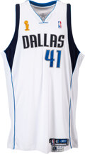 Basketball Collectibles:Others, 2006 Dirk Nowitzki NBA Finals Game Two Worn & Signed Dallas Mavericks Jersey--Photo Matched!...