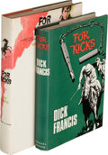 Books:Mystery & Detective Fiction, Dick Francis. Two Copies of For Kicks. London and New York: [1965]. First and first American editions. Both in... (Total: 2 )