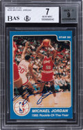 Autographs:Sports Cards, Signed 1984-85 Star Co. Michael Jordan #288 BGS NM 7, 9 Auto. ...