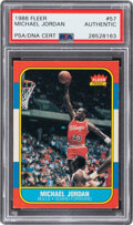 Autographs:Sports Cards, Vintage Signed 1986 Fleer Michael Jordan #57 PSA/DNA Authentic. ...