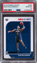 Basketball Cards:Singles (1980-Now), 2019 Panini Hoops Zion Williamson #258 PSA Gem Mint 10. ...