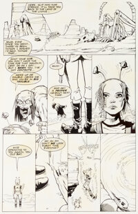 Jamie Hewlett & Peter Milligan Tank Girl: The Odyssey #1 Planches 21 à 24 (DC/Vertigo, 1995).... (Total: 4 Or...