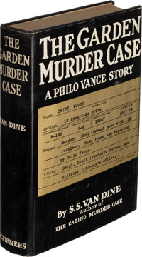 S. S. Van Dine. The Garden Murder Case. New York: 1935. First edition. Inscribed by the auth