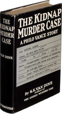 S. S. Van Dine. The Kidnap Murder Case. New York: 1936. First edition. Inscribed by the auth