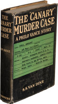 """Books:Mystery & Detective Fiction, S. S. Van Dine. The """"Canary"""" Murder Case. New York: 1927. First edition...."""