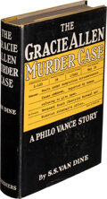 Books:Mystery & Detective Fiction, S. S. Van Dine. The Gracie Allen Murder Case. New York: 1938. First edition. Inscribed by the author....