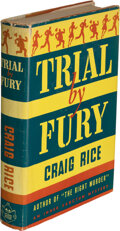 Books:Mystery & Detective Fiction, Craig Rice. Trial by Fury. New York: 1941. First edition....