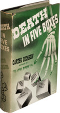 Books:Mystery & Detective Fiction, [John Dickson Carr] Carter Dickson, pseudonym. Death in Five Boxes. New York: 1938. First edition....