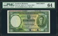 Southern Rhodesia Southern Rhodesia Currency Board 1 Pound 1.2.1945 Pick 10s Specimen PMG Choice Uncirculated 64<...
