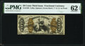 Fractional Currency:Third Issue, Fr. 1359 50¢ Third Issue Justice PMG Uncirculated 62 EPQ.. ...